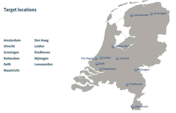 Netherlands Target Locations